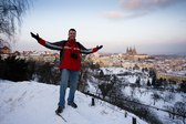 Friend paralyzed by beauty of Prague;)